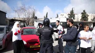 isgal - İsrail maratonunu protesto etmek isteyen Filistinlilere engel - KUDÜS