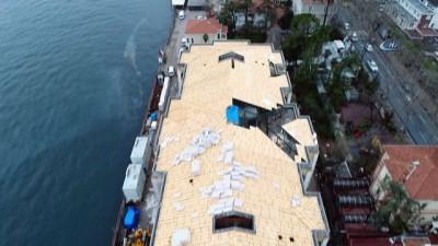 Tarihi Kabataş Erkek Lisesi Yatakhanesi'ndeki tartışmalı restorasyon işlemleri havadan görüntülendi