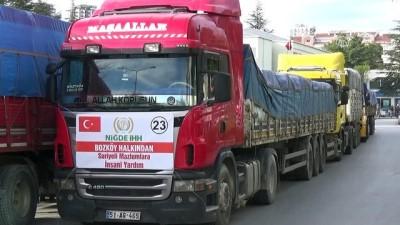 Suriye'ye 10 tır insani yardım malzemesi gönderildi - NİĞDE