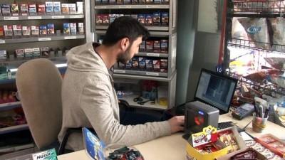 Dondurma hırsızları güvenlik kamerasında