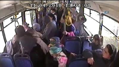 Otobüs şoförü, kalp krizi geçiren yolcuyu hastaneye yetiştirdi... O anlar kamerada