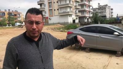 Park ettikleri araçlarını lastiksiz buldular - MERSİN