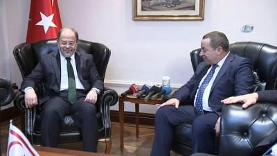 Başbakan Yardımcısı Akdağ KKTC Maliye Bakanı Denktaş'ı kabul etti