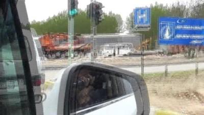 Keçilerin minibüsle yolculuğu kamerada