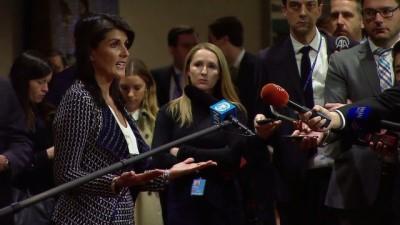 ABD'nin BM Daimi Temsilcisi Haley'den 'kimyasal kanıt' açıklaması - NEW YORK