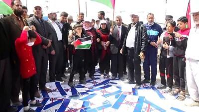 Filistinliler, İsrail bayrağını yaktı - GAZZE