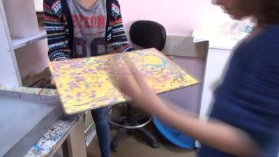Minik elleriyle sanat öğreniyorlar