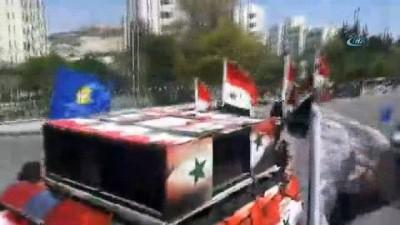 hukumet -  - Şam'da Esad'ı Destekleyen Gösteriler