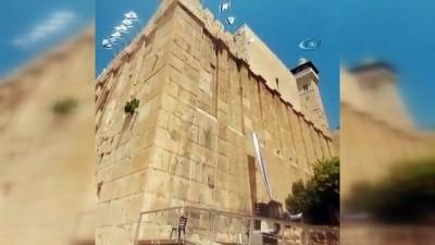 isgal -  - Yahudi yerleşimciler İbrahim El-Halil Camii'ne İsrail bayrağı astı