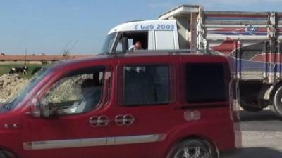 Afyonkarahisar polisinden kamyon, TIR ve motosikletlere uygulama