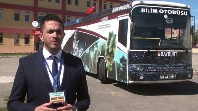 Hurda otobüs öğrenciler için 'bilim merkezi'ne dönüştü - BAYBURT