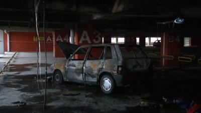 LPG deposu patlayan otomobil alev alev yandı