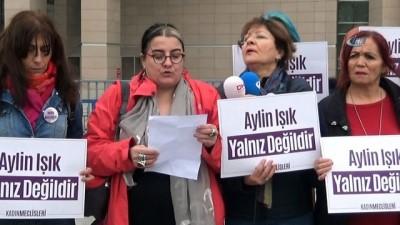 Ölmemek için eşini öldürdüğü iddia edilen Aylin Işık hakim karşına çıktı