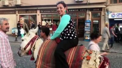 Mardin'de kadrolu eşekler ve atlar da turizm hizmetinde