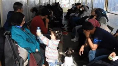 Sakız adasına kaçmaya çalışan 47 göçmen sahil güvenlik ekipleri tarafından yakalandı