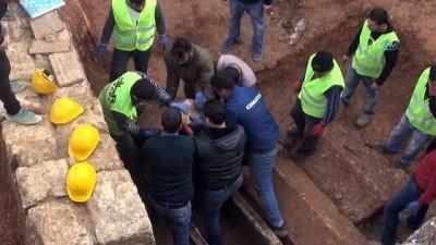Gizemli kazının yapıldığı alan çöküyor