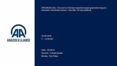 Horosan'da trafik kazası: 1 ölü - ERZURUM