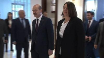 basin mensuplari -  İçişleri Bakanı Soylu, Avrupa Komisyonu Üyesi Violeta Bulc'u kabul etti