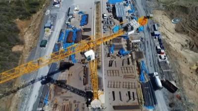 Kuzey Marmara Otoyolu inşaatının son durumu havadan görüntülendi