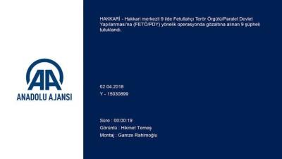 FETÖ/PDY operasyonu - HAKKARİ