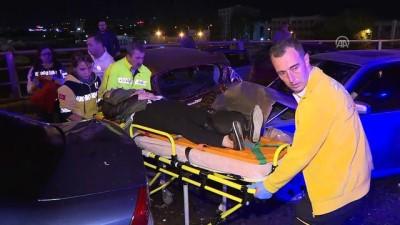 Başkentte zincirleme kazada 10 araç birbirine girdi : 7 yaralı - ANKARA