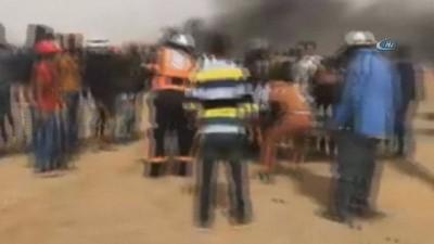 israil -  - Gazze'de 'Büyük Dönüş Yürüyüşü'nde 4'üncü cuma - İsrail askerlerinin vurduğu 1 Filistinli hayatını kaybetti