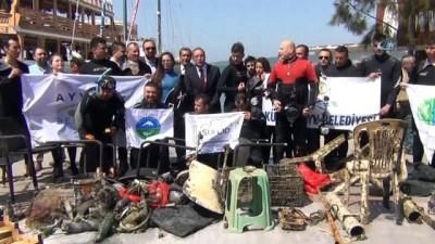 İyilik yaptılar, denize atılanları çıkardılar...Turizm haftasında deniz dibi temizliği