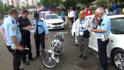 Tescilsiz motosiklet ile kaza yapan yaralı sürücü kaza yerinden kaçtı
