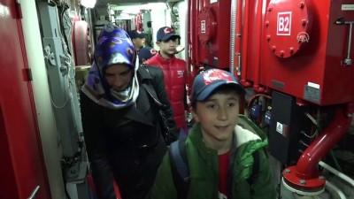 Çocuklar sahil güvenlik gemisiyle deniz yolculuğuna çıktı - SAMSUN