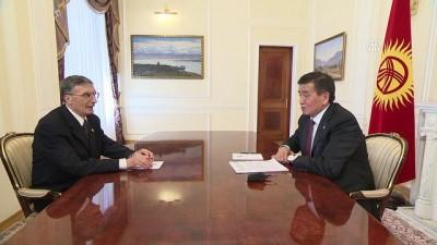 Kırgızistan Cumhurbaşkanı Ceenbekov Sancar'la görüştü - BİŞKEK