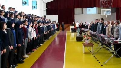Şehit aileleri ve öğrencilerin buluşmasında gözyaşları sel oldu