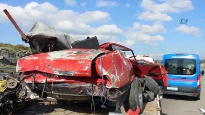 Tavşanlı'da trafik kazası...Kaza yapan araç hurdaya döndü: 1 ölü
