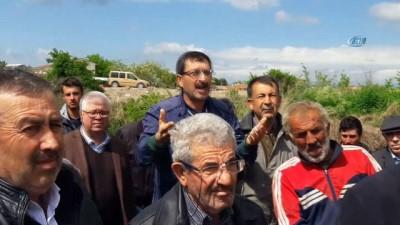 hastane -  Zehirli dereden su içen oğlak öldü... Köylüler Karadere için eylem yaptı