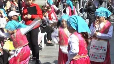 Gaziosmanpaşa'da 23 Nisan kutlamaları havadan görüntülendi