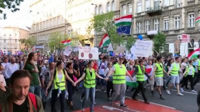 basin ozgurlugu - Macaristan'da hükümet karşıtı eylem - BUDAPEŞTE