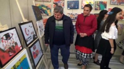 Bursalı öğrencilerden 'Afrin şehitleri' sergisi