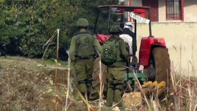 Filistinli yaşlı çiftçi İsrail mermilerine aldırmadan arazisini ekiyor - NABLUS