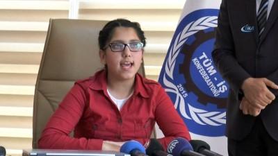 Tüm-İŞ Konfederasyonu koltuğu, iş kazası mağduru ailelerin çocuklarına emanet