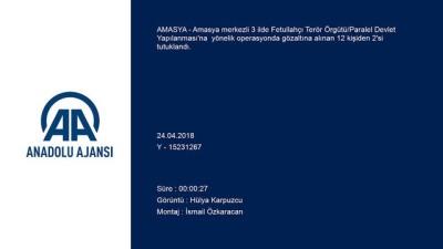 Amasya merkezli FETÖ/PDY operasyonu - 2 kişi tutuklandı