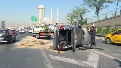 Ana arterlerdeki kazalar trafiği aksattı - İSTANBUL