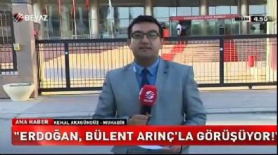 cumhurbaskani - Cumhurbaşkanı Erdoğan Bülent Arınç ile görüşüyor