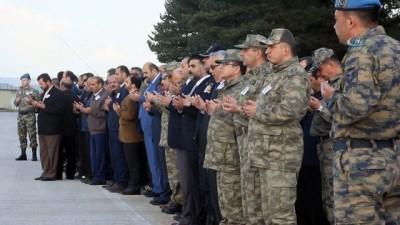 Mardin'de çatıdan düşerek şehit olan polis memuru Kubilay Kahraman'ın cenazesi Erzurum'a getirildi