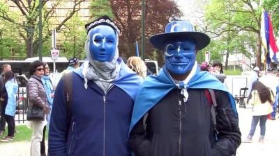 Belçika'da Uygurlara destek gösterisi - BRÜKSEL