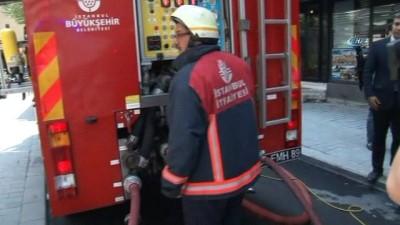 Eminönü'nde çıkan yangına müdahale eden itfaiye eri ağır yaralandı