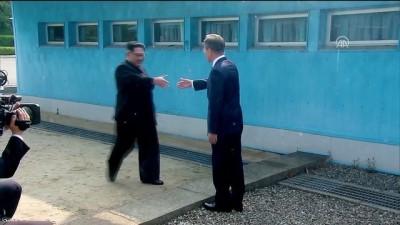 Kim ile Moon'un tarihi görüşmesi - PANMUNJOM