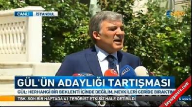 Abdullah Gül, adaylık kararını açıkladı!