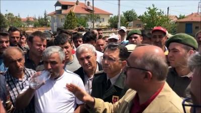 Akşehir'deki trafik kazası - Vatandaşlardan oturma eylemi - KONYA