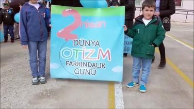 Anaokulu öğrencileri otizme dikkat çekmek için yürüdü - BİLECİK