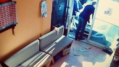 Meraklı vatandaşın ölümden döndüğü anlar güvenlik kameralarına böyle yansıdı