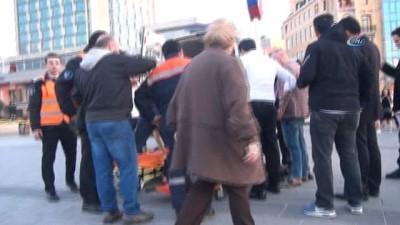 yasli adam -  Taksim'de yaşlı adamın ayağı Metro'ya sıkıştı